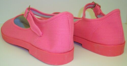 Adini Mary Jane Cotton Canvas Yoga Shoes-Made In China-Pink
