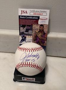 John Smoltz Autographed OML Baseball w/HOF inscription JSA