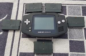 Game-Boy-Advance-Konsole-Geraet-Schwarz-BLACK-in-guten-Zustand-5-Spiele