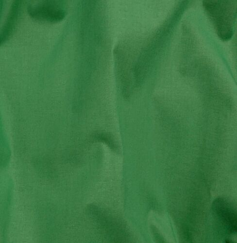 Emerald 100/% Cotton Plain-Dyed Craft Dress Bunting Quilting Fabric 150cm wide