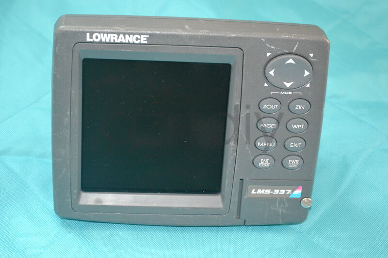 Lowrance LMS337C GPS Fishfinder only head & sun cover ,no other accessories
