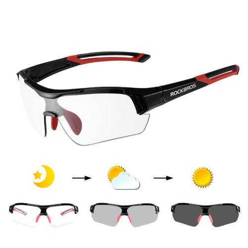 RockBros Cycling PC Photochromatic Black Red Glasses 100/% UV400 Bike Goggles