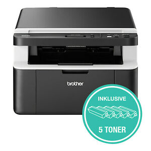 Brother-DCP1612W-3-in-1-Multifunktionsgeraet-Laserdrucker-WLAN-inkl-5-Toner