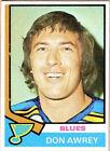 1974 Topps Don Awrey #80 Hockey Card