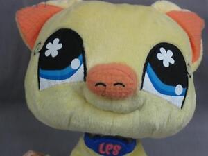 littlest pet shop pig yellow big eyes soft adorable plush stuffed animal toy ebay. Black Bedroom Furniture Sets. Home Design Ideas