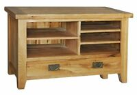 Lyon Solid Oak Furniture Small Tv Dvd Cabinet Stand Unit