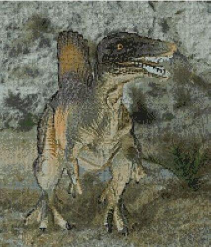 "Dinosaur 1 Counted Cross Stitch Kit 12/"" x 14/"" 30.5cm x 36cm D2338"