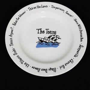 Pottery-Barn-Teens-Millennium-Salad-Dessert-Plate-Birthday-Decade-8-1-4-034