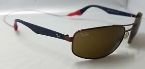 c64d8131e265e Ray Ban Sunglasses RB3527 012 73 61-17 3N Blue   Brass Frame Brown ...