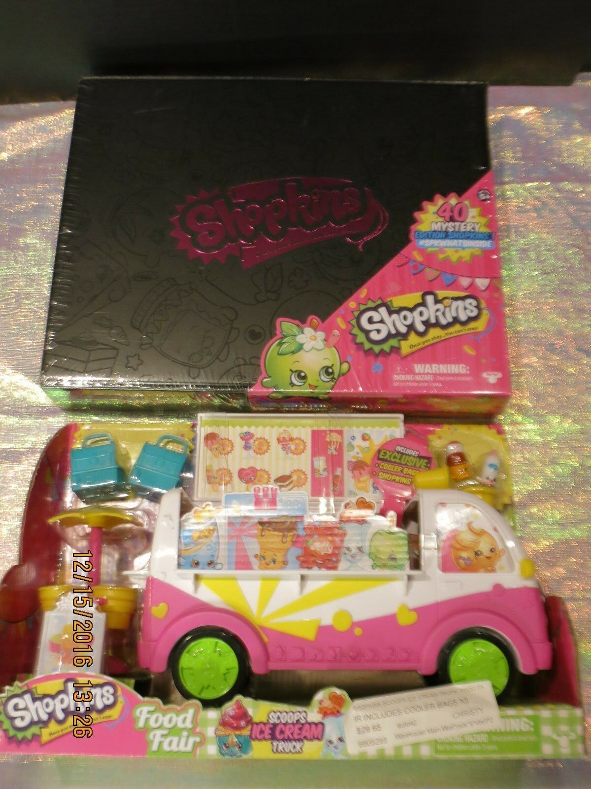 Shopkins misterio Edition 40pc Neón-Target Exclusive & Ice Cream Truck Nuevo Nuevo en Paquete