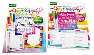 Set-of-2-Beginner-039-s-Guide-to-Calligraphy-Hand-Lettering-Creative-Art-Pad-Crayola