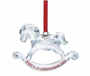 Swarovski-Crystal-5439947-Baby-039-s-1st-Christmas-Ornament-2019-Edition-4cm-RRP-89
