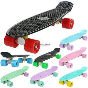 "Fashion 22"" Skateboard Cruiser Deck Complete Plastic Skate Board For Boys Girls"