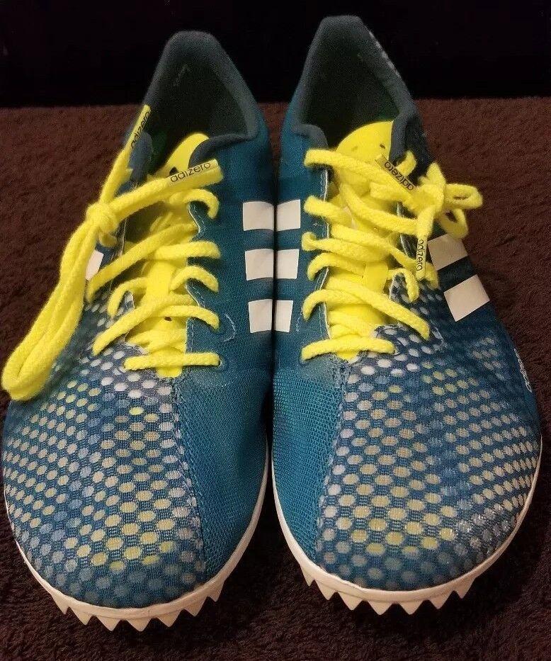 Men's Adizero Ambition 4 Running shoes, Mystery Petrol White Petrol Night, Sz 8