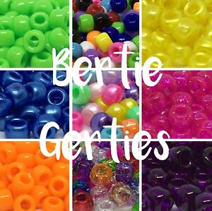 3-FOR-2-Pony-Beads-Pearl-glitter-opaque-barrels-Mix-single-100-500-1000