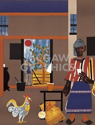 Morning of the Rooster 1980 by Romare Bearden Art Print Ethnic Poster 11x14