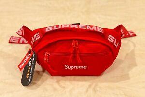 Brand-New-Supreme-Red-Waist-Bag-Shoulder-Bag-Fanny-Pack-Unisex