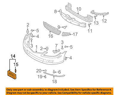 MAZDA OEM 06-08 6-License Plate Bracket Mount Holder GP7A50170