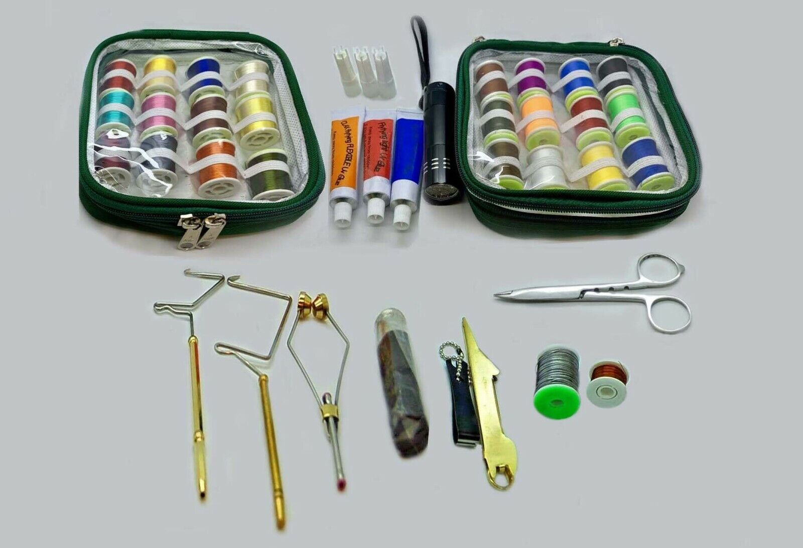 Mounting kit flies with uv glue dense, clear, flexible, uv light