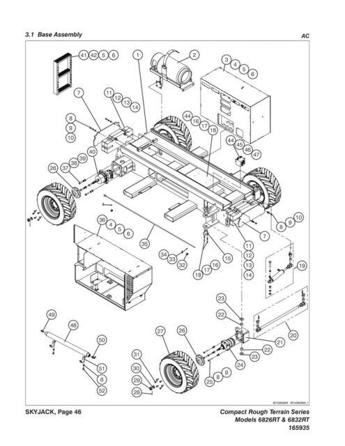 Skyjack Sj6826rt Sj6832rt Parts Manual Rough Terrain Scissors