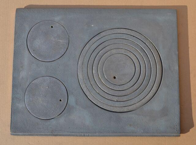 BST D107 Piastra BIG in ghisa rigata 40 x 52 cm per BARBECUE