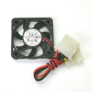 NEW-T-amp-T-MW-5210M12C-50mm-x-10mm-12V-DC-Brushless-Cooling-Fan-with-PC-Power-Cable