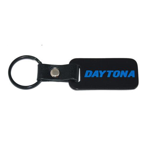 Engraved Blue Daytona Logo Dodge Charger DAYTONA Satin Black Key Chain Fob