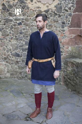 Blue by Burgschneider Medieval Tunic Viking Wool// Larp