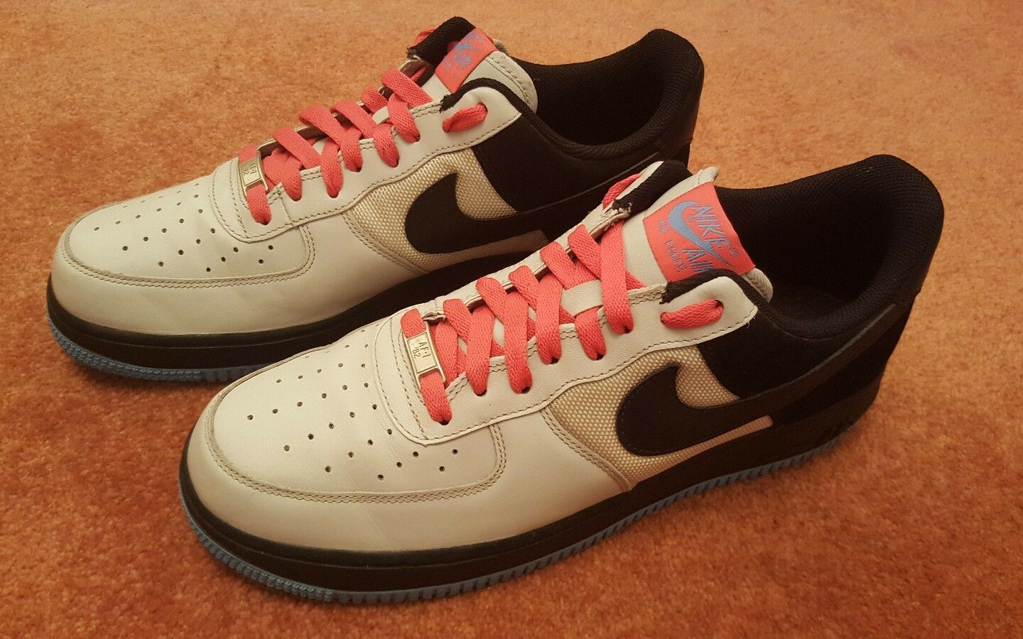 NIKE Air Obliger 1 08 flamingo university  Bleu  flamingo 08  Blanc   AF1 315122 005 superb UK10 51fb8c