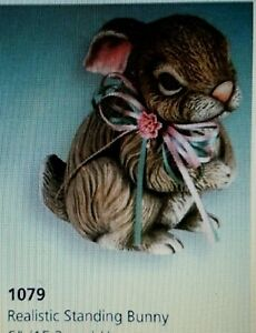 Ceramic-Bisque-Realistic-Standing-Bunny-Scioto-Mold-1079-U-Paint-Ready-To-Paint