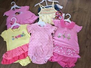 Nwt 12 Months Baby Toddler Girls Clothes Summer Clothing Lot Size 5 Outfits Ebay