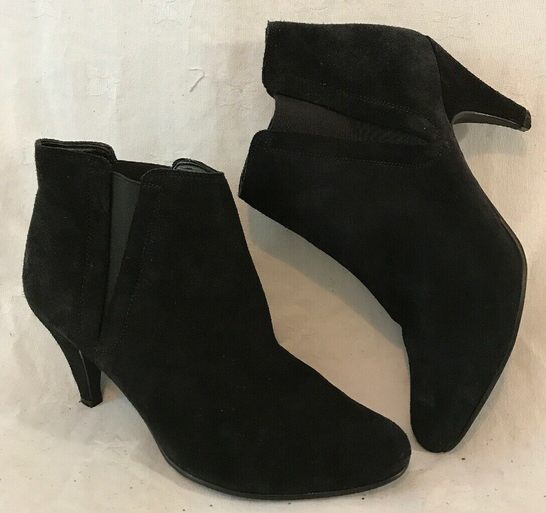 Oasis Black Ankle Suede Lovely Boots Size 39 (9vv)