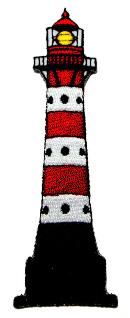 Cute Pretty Lighthouse Embroidered Iron on Patch Free Postage