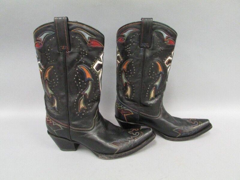 Corral Black Leather Cowboy Western Boots Women's Sz 9.5 M