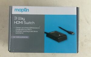 Maplin Essentials 3 Way Automatic HDMI Switch eBay