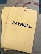 10 X 13 Payroll String Amp Button Kraft Manila Envelopes 10 Pieces