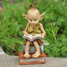Miniature Garden Pixie Reading a Book / Fairy Gnome Hobbit Garden TO 4318