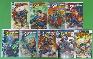 Superman-5-13-Bendis-Reis-Lot-of-Comics-DC-Comics-2018-VF-NM