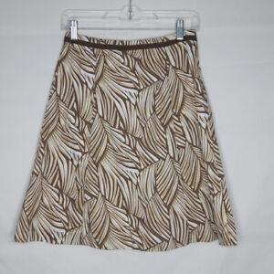 Talbots-A-Line-Skirt-Women-Petite-Size-4-Animal-Print-Brown