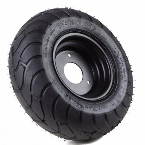 "Pair of Gokart 13x5.00-6/"" inch Rear Tire Wheel Rim 3 Hole Lawn Mower Scooter NEW"