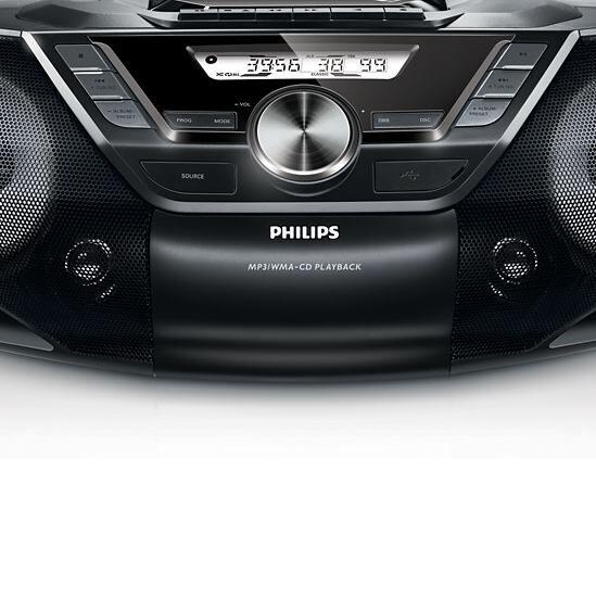 philips az787 cd soundmachine usb bass reflex speakers 12w. Black Bedroom Furniture Sets. Home Design Ideas