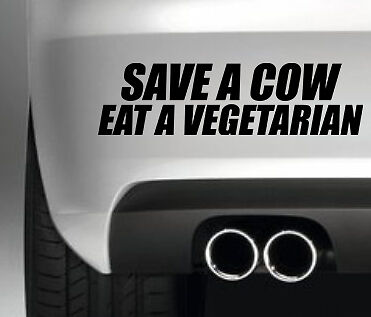 SAVE A COW CAR BUMPER SHOW  STICKER FUNNY DRIFT JDM DECAL VINYL VAN
