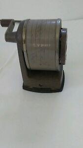 Vtg Apsco Model V-8 Vacu-Base Standard 3A Cutter Assembly 6 Hole Sharpener USA