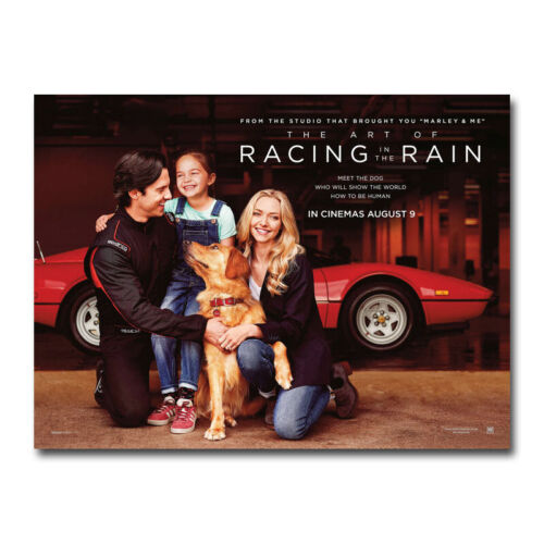 The Art of Racing in the Rain Poster 2019 Movie Silk Canvas Poster Print 32x43/'/'