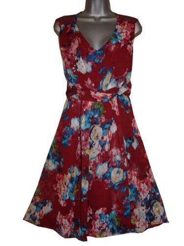 Plus size floral back lace panel chiffon dress    HALF PRICE