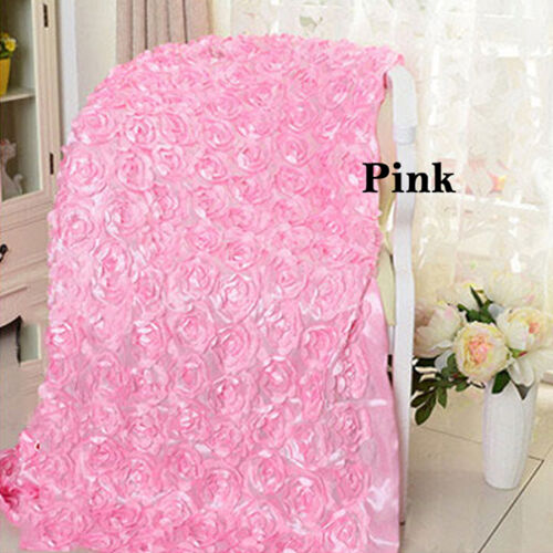 3D Rose Flower Home Decor Stage Hall Wedding Carpet Aisle Runner Mat Rug Pad UDW