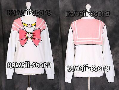 T-502 pink Sailor Chibi Moon Chibiusa Sweatshirt Pullover Cosplay Japan Harajuku