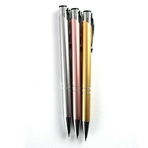 Deluxe Ballpoint Ball Pen Biro 3 Assorted Shining Colour Pack Smooth write Point