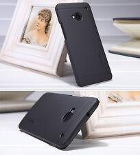 For HTC One M7 Nillkin Black Slim Matte Hard Case Skin Cover + Screen Protector