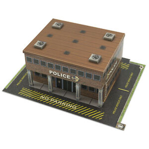 Details about 1/48 O Scale Police Station Diorama Building Kit Fits Lionel,  Bachmann, Williams
